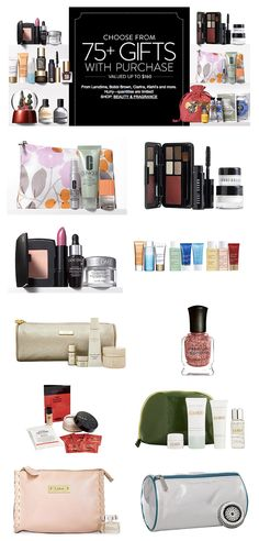 Over 75 Beauty Gifts with Purchase!! #BlackFriday http://rstyle.me/n/t4n29nyg6