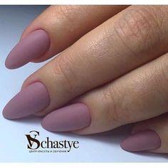 Almond-shaped nails, Autumn nail shellac, Autumn nails, Beautiful autumn nails, Fall matte nails, Fashion matte nails, Ideas of matte nails, Ideas of plain nails #almondshapednails