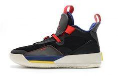 c2d0f281eba7 Air Jordan 33 XXXIII Black Dark Smoke Grey Sail AJ33 BV5072-001 Men s  Casual Sneaker