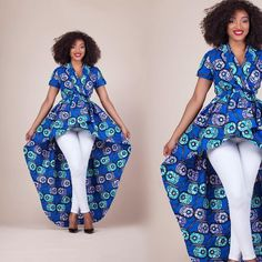 The Gaeli top is so flattering 🙃 Don't forget there's free express shipping a. at Diyanu African Wear Dresses, African Fashion Ankara, African Models, Latest African Fashion Dresses, African Print Fashion, African Attire, African Outfits, African Tops, African Women