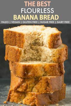 Healthy Flourless Banana Bread (Paleo, Vegan, Gluten-Free) – SUB gf flour ; … Healthy Flourless Banana Bread (Paleo, Vegan, Gluten-Free) – SUB gf flour ; Flours Banana Bread, Coconut Flour Bread, Gluten Free Banana Bread, Healthy Banana Bread, Baked Banana, Almond Flour, Almond Meal, Coconut Sugar, Banana Bread With Oats