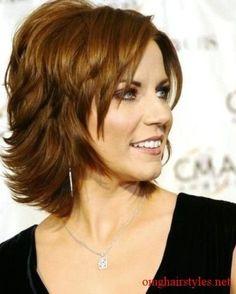 Medium Hairstyles for Women Over 50 with wavy Hair | Long Layers? | Hair ideas.... by Deana Harvey