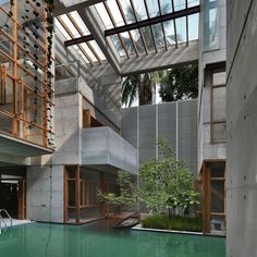 The Concrete House of Green Water (Dhaka) - stunning residence disguised as a public building.