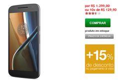 """Motorola Moto G 4 Geração 4G Dual Chip Tela 55"""" 13MP 16GB << R$ 110415 >>"""
