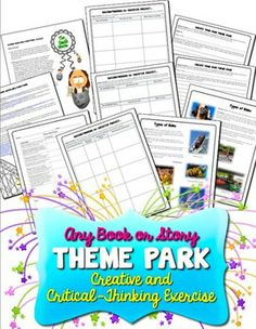 Create a Theme Park! Creative Common Core Activity for Any Book or Story