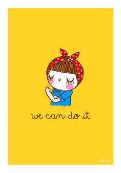 """Poster """"we can do it"""" do Studio Adonadabolsinha por R$90,00"""