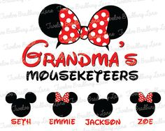 Disney GRANDMA Printable DIY Iron On by TwelveBradburyLane on Etsy, $5.25