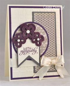 Mojo240: With Sympathy by TruCarMa - Cards and Paper Crafts at Splitcoaststampers