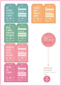 Etiquetas para enamorados   Imprimibles