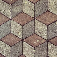 Optical illusion pavement #pattern