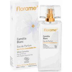 Eau de Parfum Bio & Vegan Camélia Blanc Florame Parfum Bio, Green Cleaning, Salvia, Bourbon, Soap, Personal Care, Bottle, Beauty, Vegan