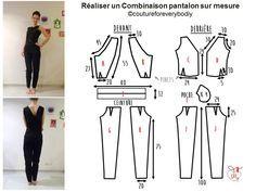 Réaliser Tuto Mesure Sewings Pantalon Combinaison Sur ~ Une gzd7qxRfwz