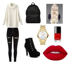"""""""Shopping 🛍"""" by ashwiny on Polyvore featuring mode, River Island, Hogan, Movado et Lime Crime"""
