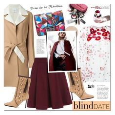 """What to Wear: Blind Date"" by mada-malureanu ❤ liked on Polyvore featuring Agnona, Giamba, Tamara Mellon, women's clothing, women, female, woman, misses, juniors and Sheinside"