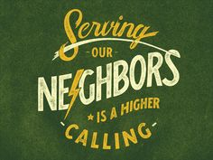 Serving Our Neighbors #logo #design #inspiration