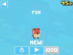 Just unlocked Fox! #crossyroad