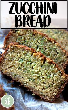 The Best Zucchini Bread: This is a quick bread made with brown sugar and white, eggs and oil, and the result is a super moist zucchini bread that makes a wonderful addition to breakfast coffee or afternoon tea all summer long! I have been making this recipe for years, an oldie but such a goodie, a hit with adults and children alike. #zucchini #bread #summer #quickbread