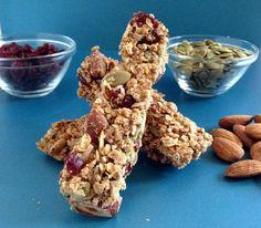 Crunchy Cranberry-Almond Granola Bars | Little Kitchen, Big Flavors