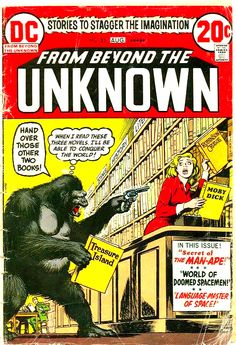 Why Is That Gorilla Yelling At That Poor Woman? From Beyond The Unknown Cover Art by Nick Cardy