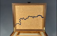 This #exquisite #box has #marquetry #decoration using the #map of #London to show that the theorem works. http://makerseye.co.uk/jewellery-box-city-series-london/ #MakersEye #MadeInBritain #bespoke #furniture #design  #maps #interiors #lifestyle #British #Luxury #decor #storage
