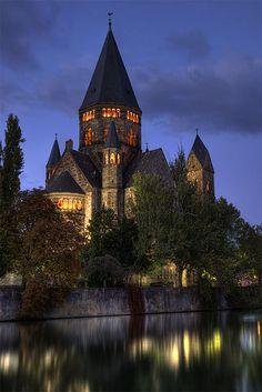 Temple Neuf de Metz, Lorraine, France