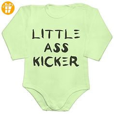Little Ass Kicker Baby Romper Long Sleeve Bodysuit Small - Baby bodys baby einteiler baby stampler (*Partner-Link)