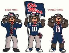 Ole Miss - University of Mississippi Rebels - Rebel Bear mascot ? ? ? ? ?