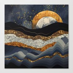 """Beautiful """"Metallic Mountains"""" metal poster created by SpaceFrog Designs. Our Displate metal prints will make your walls awesome. Desenio Posters, Doodle Drawing, Canvas Artwork, Canvas Prints, Cg Artwork, Wall Prints, Mountain Art, Mountain Landscape, Mountain Drawing"""
