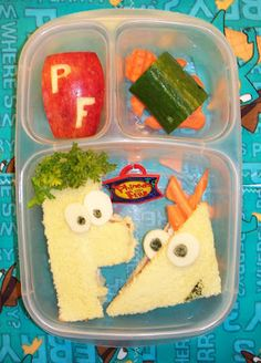 Phineas and Ferb Lunch in #EasyLunchBoxes #PhineasandFerb Lunch