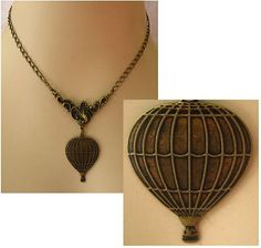 Burnished Gold Hot Air Balloon Necklace http://cgi.ebay.com/ws/eBayISAPI.dll?ViewItem&item=161124027120