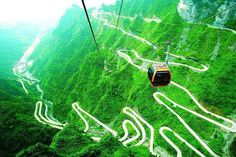 Tianmenshan - China  The most dangerous road in China