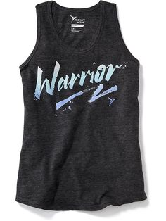 Go-Dry Graphic Racerback Tank for Girls
