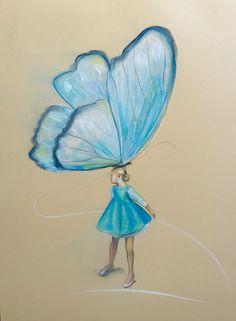 """""""Piruett"""" 64 x 46 cm © frihåndstegning pastellkritt Graphic Prints, Art Drawings, Butterfly, Artist, Artwork, Painting, Photo Illustration, Work Of Art, Auguste Rodin Artwork"""