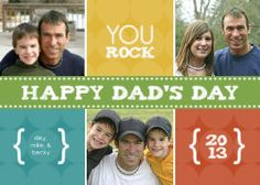 Mixbook Colorful Dad Father's Day Cards