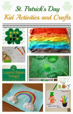 St. Patrick's Day Kid Activities and Crafts {kids co-op 2-27}Leprechaun Songs for St Patrick�s Day�Let's Play Music�Free St. Patrick�s Day Pack by 3 Dinosaurs�Rainbow Art for Kids by Buggy and BuddySt. Patricks Day Crafts for Kids: Four Leaf Clover Felt Tic-Tac-Toe�by Mamade CreationsKid Color Pages for St. Patrick�s Day�by Crystal and CompRainbow Shaving Cream Gold Coin Dig�by House of Burke�Rainbow Fingerprint Flower ~ Family Art10  St. Patrick's Day Themed Kids Activities {we enjoyed as a…