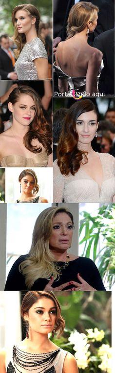 """Penteado de lado com """"torcidinho"""" vira tendência entre as famosas"""