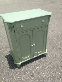 Small Mint green cabinet.