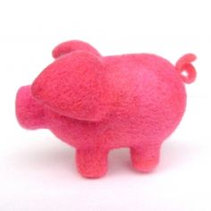 Tutorial on felting 4 legs of the same size. Cute pig too!