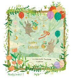 HAPPY EASTER! By Megumi Inoue. http://sorahana.ciao.jp/