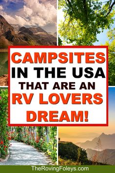 From Arizona to Washington, we've put together a list of the top rated RV campgrounds in the United States to add to your bucket list for your next road trip. Finding good RV campgrounds is… Camping Must Haves, Camping Hacks, Travel Trailer Camping, Camping Spots, Camping Car, Roadtrip, Camping And Hiking, Campsite, Backpacking