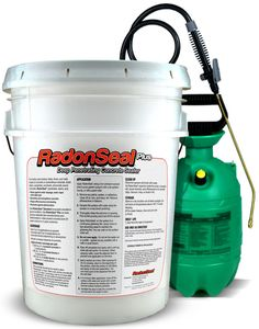 "RadonSeal penetrates up to 4"" into concrete, reacts, and internally seals against water, vapor, radon, and molds. Permanent. For indoor or outdoor concrete, new or old. Backed up by a Limited Lifetime Guarantee!"