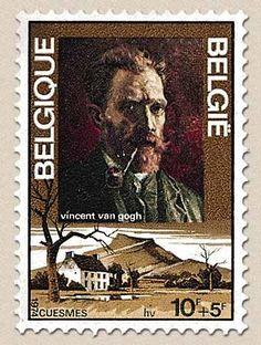 Belgian Stamps Vincent Van Gogh. 'Self portrait' Van Gogh