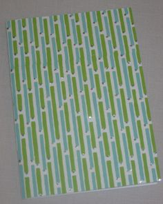 Notebook Sewn Spine Blue and Green Dashed by inkmeetspaperdesign, $10.00