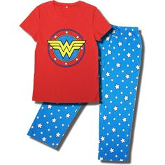 "Wonder Woman Pajama Set. The only thing I have to say is, ""Me want!!"""