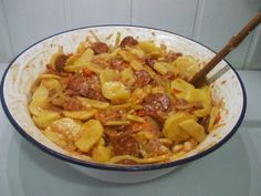 Shabby Chic Crafts, Potato Recipes, Food Art, Thai Red Curry, Ham, Macaroni And Cheese, Food And Drink, Menu, Potatoes