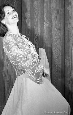 Renée Bordeleau, Chambly, Photo by Richard Guimond ©1977 19771019  Nikon F2a 105mm f2.5 2x Honeywell Strobonar 202, Tri-X D-76 105mm, Tri, Domestic Goddess, Book Worms, Nikon, One Shoulder Wedding Dress, Religion, Things To Think About, Wedding Dresses