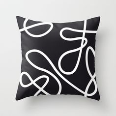 No Target Black Throw Pillow by patterndesign - $20.00