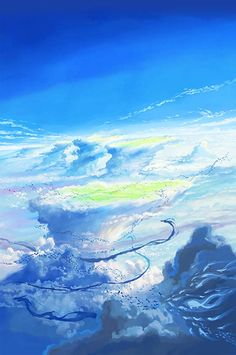 Tenki no Ko (Weathering With You) Image - Zerochan Anime Image Board Anime Scenery Wallpaper, Anime Backgrounds Wallpapers, Animes Wallpapers, Anime Artwork, Sky Anime, Anime Galaxy, Fantasy Landscape, Fantasy Art, Makoto Shinkai Movies