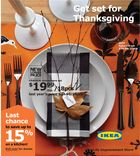 IKEA's Thanksgiving table setting. Love non traditional some times