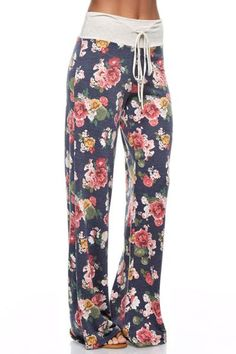 These floral casual lounge pants are very comfortable and perfect for a chilly morning or just relaxing. Pair them with a your favorite t shirt for a great casual look.
